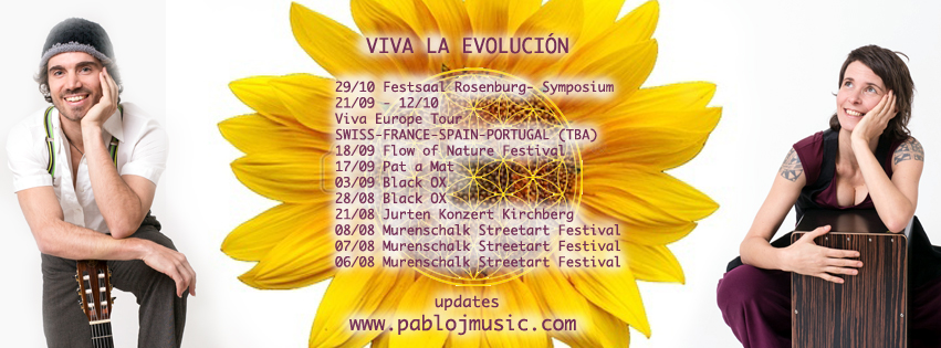 VIVA LA EVOLUCIÓN tour through Europe